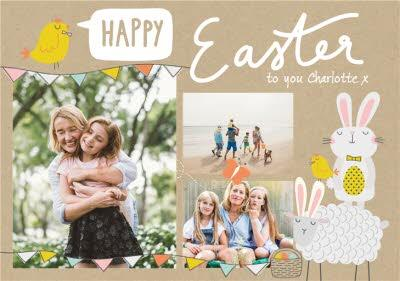 Cute Easter card - Happy Easter - Photo Upload