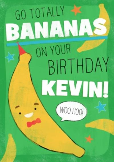 Go Totally Bananas On Your Birthday Personalised Birthday Card