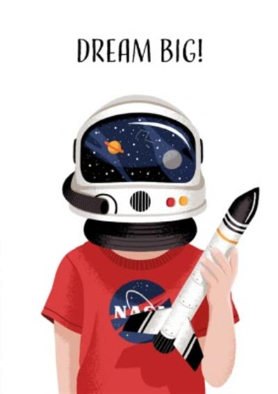 Folio Astronaut Dream Big Birthday Card