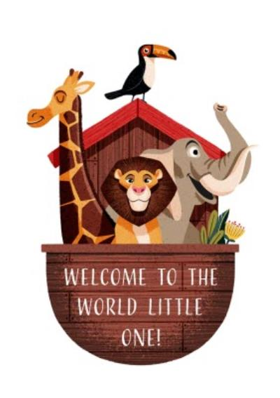 Folio Jungle Animal Welcome to the world little one New Baby Card