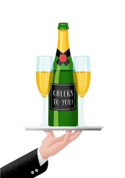 Folio Cheers to You Champagne CongratulationsCard
