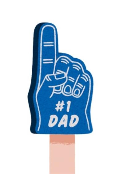 Folio Number 1 Fathers Day Card