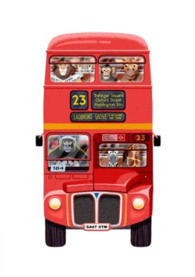 Folio Animal Red London Bus Card