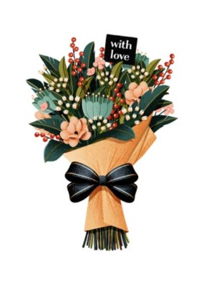 Folio Bunch of flowers With Love Card