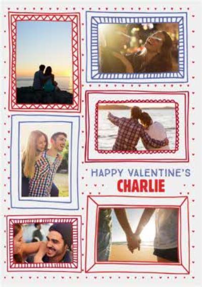 Valentines Frame Us White 6-Photo Upload Card