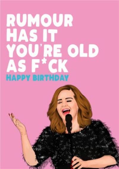 Modern Rude Old As Fuck Birthday Card