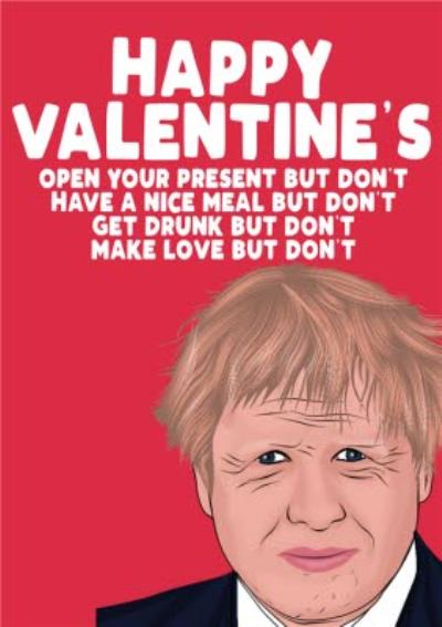 But Don't Spoof Funny Valentine's Day Card