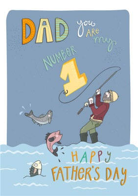 Dad You Are My Number 1 Fishing Father's Day Card | Moonpig