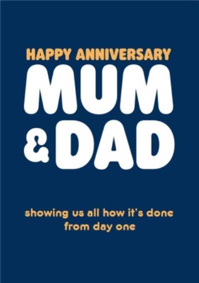 Happy Anniversary Mum And Dad Humour Quote Anniversary Card