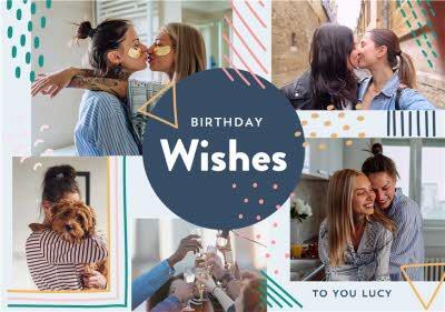 Birthday Wishes -  Multi photo upload card