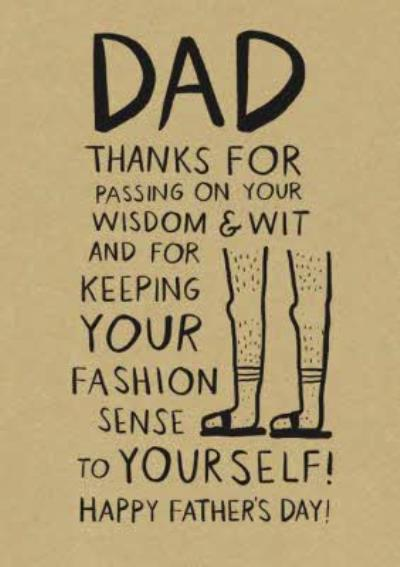 Dad Thanks For Passing On Your Wisdom And Wit Card