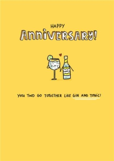 UK Greetings Camden Graphics Drinks Anniversary Card