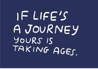 Birthday card - life's a journey