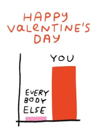 You And Everybody Else Funny Chart Valentines Card