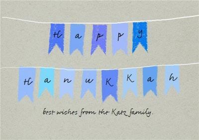 Hand Drawn Personalised Hanukkah Card
