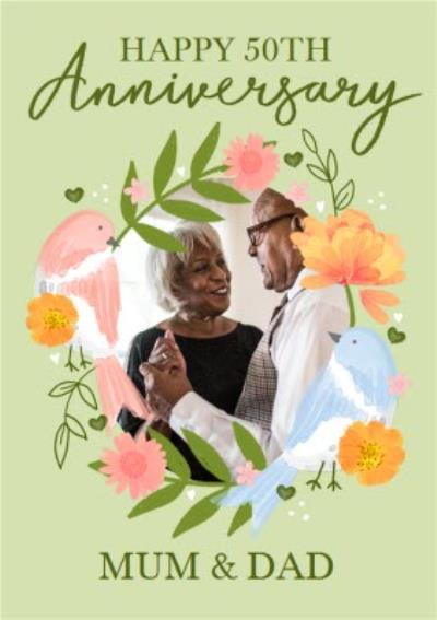 Happy 50th Anniversary Mum And Dad Photo Upload Anniversary Card