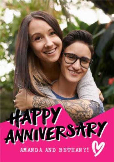 Anniversary Photo upload card - Happy Anniversary