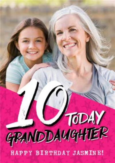 Granddaughter 10th Birthday Photo Upload Card