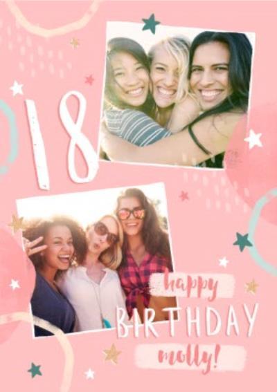 18th Birthday Friend Photo Upload Card