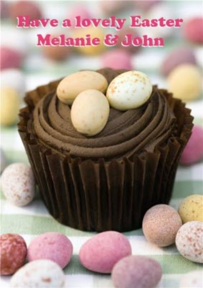Chocolate Easter Eggs Personalised Happy Easter Card