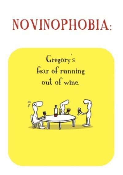 Funny Wine Birthday Card
