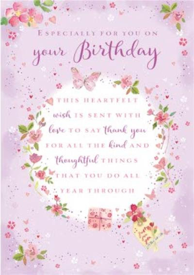 Birthday Card - Verse - Sentimental - Traditional