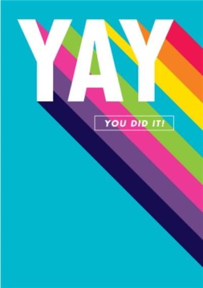 Yay You Did It Rainbow Card