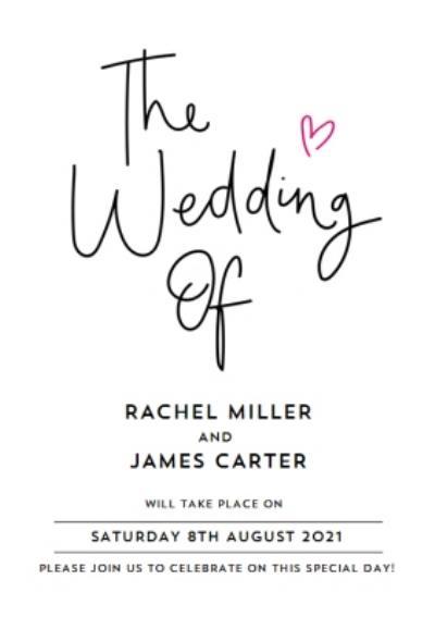 Typographic Wedding Invitation Card