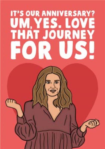 Funny Spoof TV Show Love That Journey For Us Anniversary Card