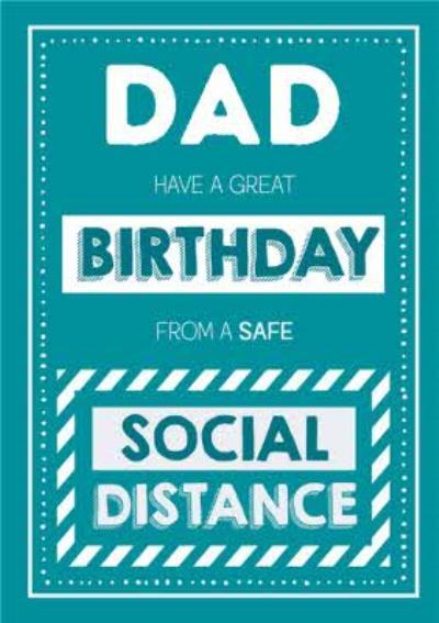Jam and Toast Dad Safe Social Distancing Birthday Card