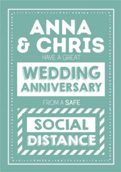 Jam and Toast Safe Social Distance Wedding Anniversary Card