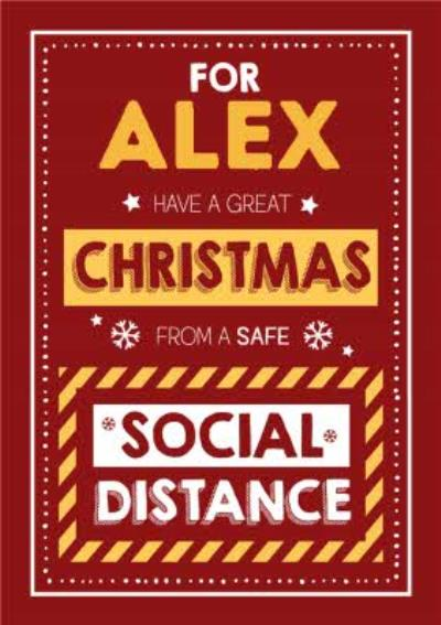 Funny Typographic Have A Great Christmas From A Safe Social Distance