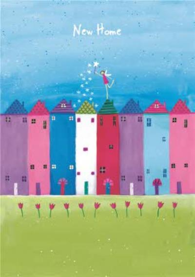 Houses In A Row Personalised New Home Card