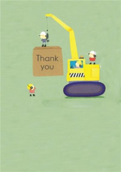 Cartoon Construction Site Personalised Card