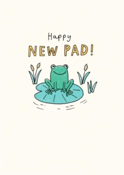 Illustrated Frog Happy New Pad Card