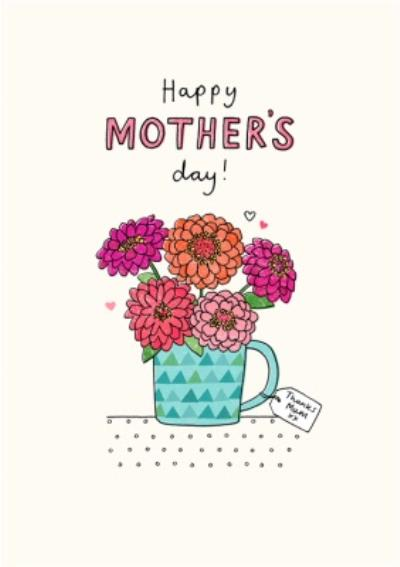 Happy Mother's Day Illustration of Flowers Card