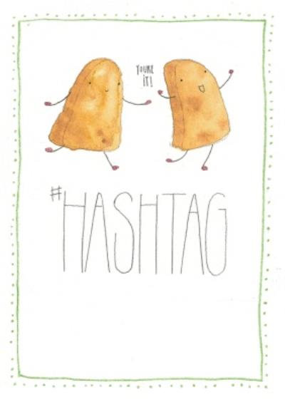 Funny Hashtag Card