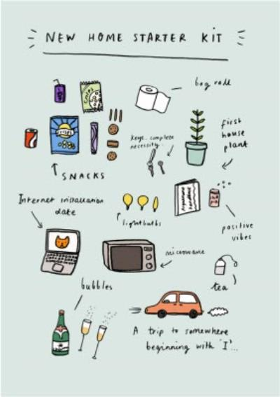 Jolly Awesome New Home Starter Kit Card