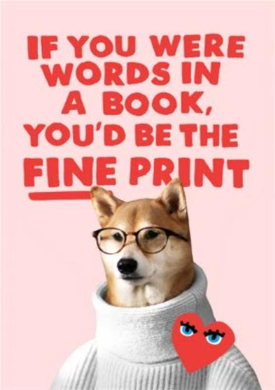 Jolly Awesome Fine Print Funny Card