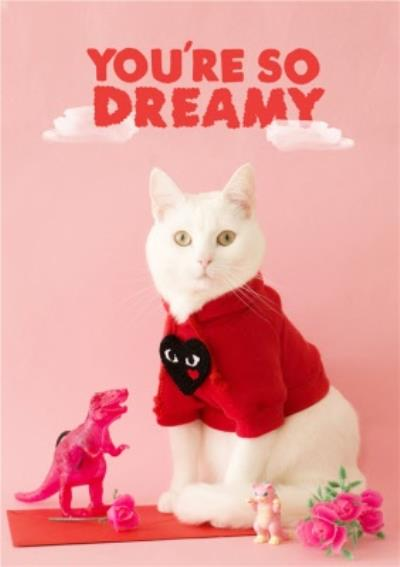 Jolly Awesome You're So Dreamy Cat Funny Card