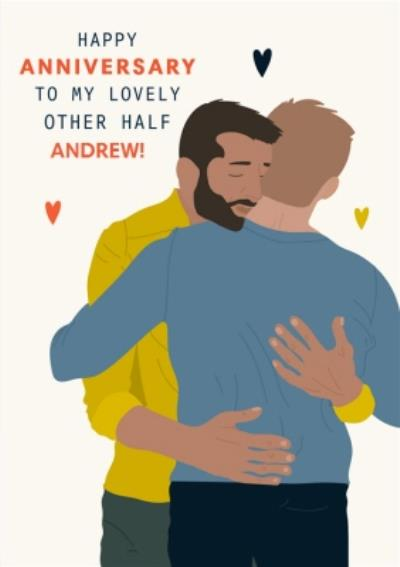 Illustrated To My Lovely Other Half Anniversary Card