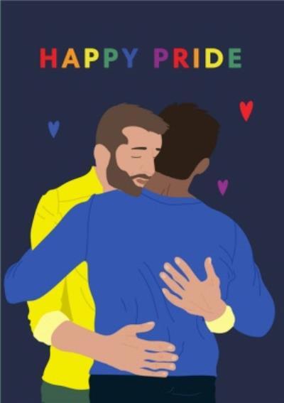 Illustrated Cute Happy Pride Card