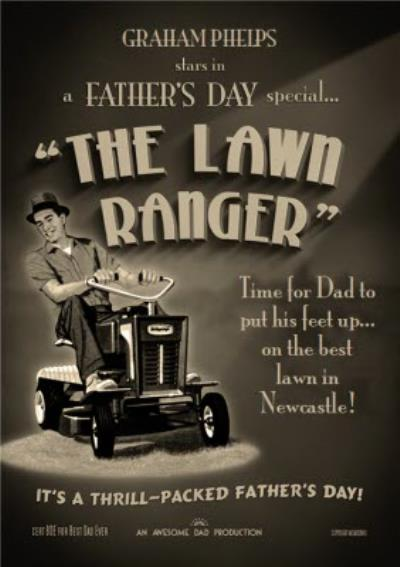 Film Noir The Lawn Ranger Father's Day Card
