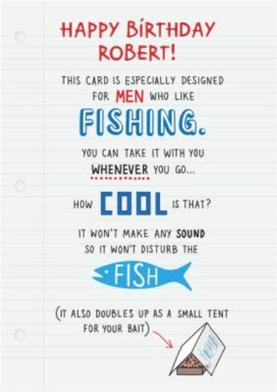 This Card Is Designed For Men Who Like Fishing... Card