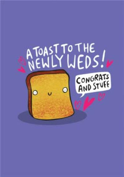 Illustrated A Toast To The Newlyweds Card