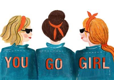 Illustrated You Go Girl Card