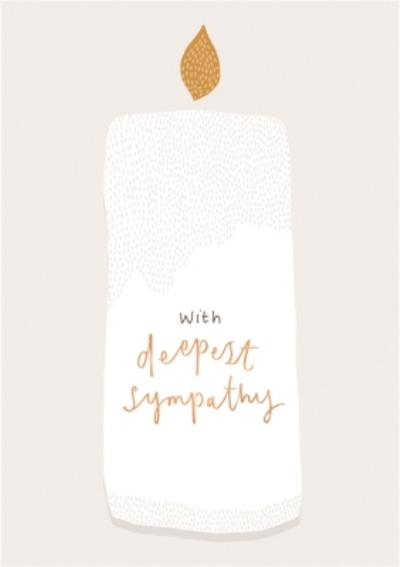 Simple Illustrated Candle With Deepest Sympathy Card