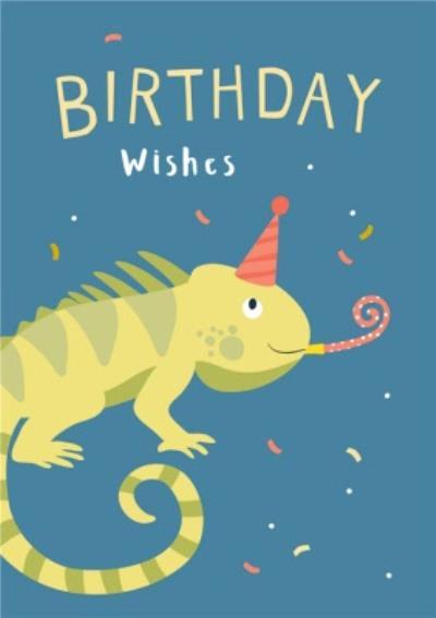 Klara Hawkins Lizard Birthday Greeting Card