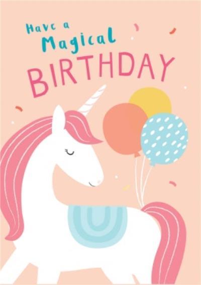 Klara Hawkins Unicorn Birthday Greeting Card