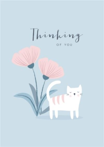Klara Hawkins Thinking of You Cat Card
